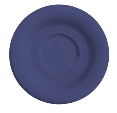 "G.E.T. Enterprises SU-2-PB Diamond Mardi Gras Peacock Blue Melamine 5-1/2"" Saucer for C-108, TM-1208 &?TM-1308"