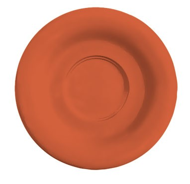 "G.E.T. Enterprises SU-2-RO Diamond Mardi Gras Rio Orange Melamine 5-1/2"" Saucer for C-108, TM-1208 &?TM-1308"