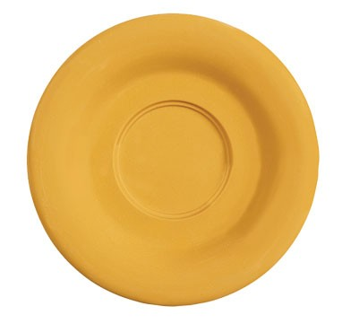 "G.E.T. Enterprises SU-2-TY Diamond Mardi Gras Tropical Yellow Melamine 5-1/2"" Saucer for C-108, TM-1208 &?TM-1308"