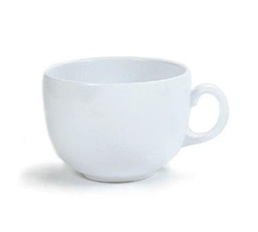 G.E.T. Enterprises C-1001-W Diamond White 18 oz. Melamine White Mug
