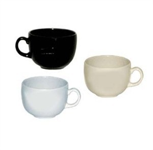 G.E.T. Enterprises C-1002-IV Diamond Ivory 24 oz. Melamine Mug