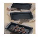 """G.E.T. Enterprises ML-110-BK Bake and Brew Black Melamine Rectangular Tray 12"""" x 21"""""""