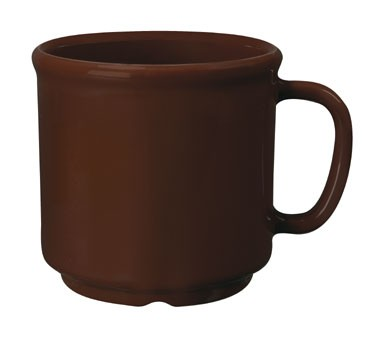 GET Bake And Brew Brown 12 Oz. SAN Plastic Coffee Mug