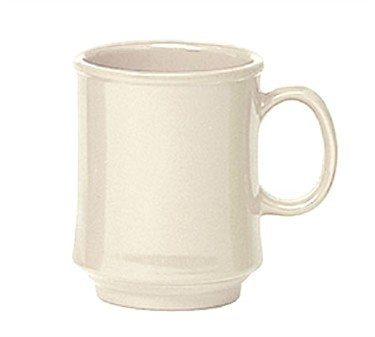 GET Bake And Brew Ivory Plastic 8 Oz. Stacking Mug