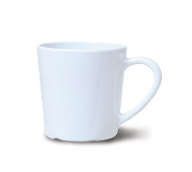 GET Bake And Brew Melamine White 7 Oz. Cup - 3-1/4