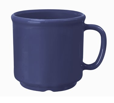G.E.T. Enterprises S-12-PB Diamond Mardi Gras Peacock Blue 12 oz. SAN Plastic Coffee Mug
