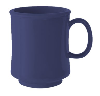 GET Bake And Brew Peacock Blue Plastic 8 Oz. Stacking Mug