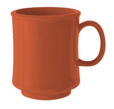 GET Bake And Brew Rio Orange Plastic 8 Oz. Stacking Mug