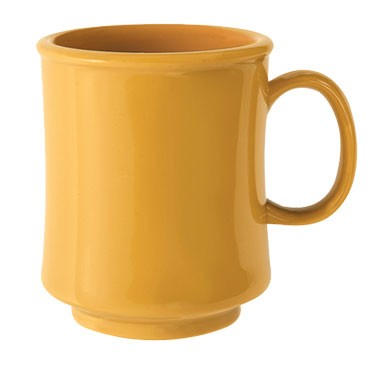 G.E.T. Enterprises TM-1308-TY Diamond Mardi Gras Tropical Yellow Tritan 8 oz. Mug