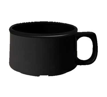 GET Black Chexers 11 Oz. Full Rim Soup Mug With Handle - 4