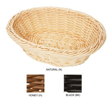 """G.E.T. Enterprises WB-1504-BK Black Designer Polyweave Oval Basket 9-1/4"""" x 6-3/4"""""""