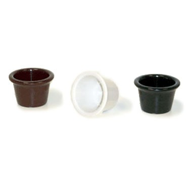 G.E.T. Enterprises S-610-BK Black Melamine 1.5 oz. Fluted Ramekin