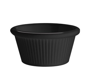 G.E.T. Enterprises RM-387-BK Black Melamine 2 oz. Fluted Ramekin