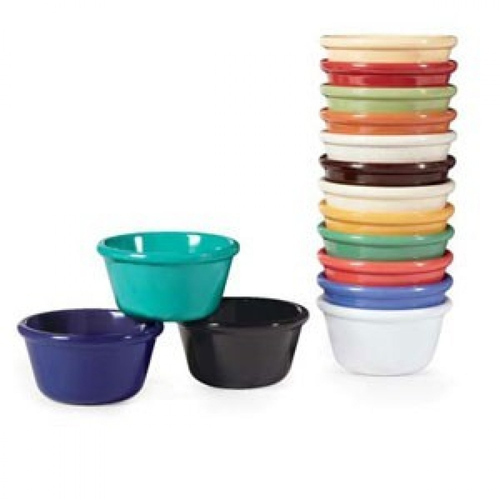 G.E.T. Enterprises RM-400-BK Black Melamine 4 oz. Cone-Shaped Ramekin