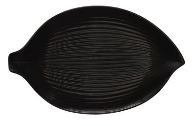 G.E.T. Enterprises 133-26-BK Black Elegance Leaf Plate 10-1/2""