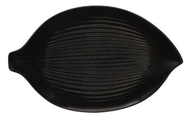 "G.E.T. Enterprises 133-26-BK Black Elegance Leaf Plate 10-1/2"""