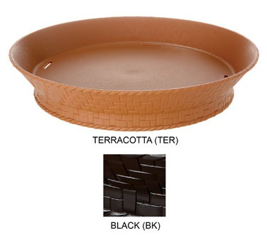 GET Black Polypropylene Footed Round Basket - 10-1/2