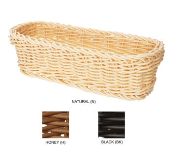 "G.E.T. Enterprises WB-1507-BK Black Designer Polyweave Rectangular Basket 10"" x 4-3/4"""