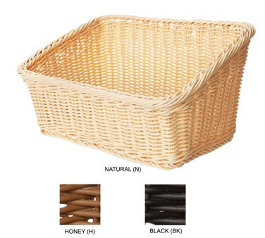 GET Black Polyweave Rectangular Capri Basket - 9-1/4