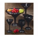 GET Black SAN Plastic 36 Oz. Super Margarita Glass