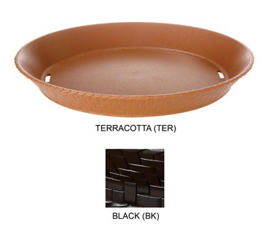 GET Black Textured Polypropylene Round Basket - 10-1/2