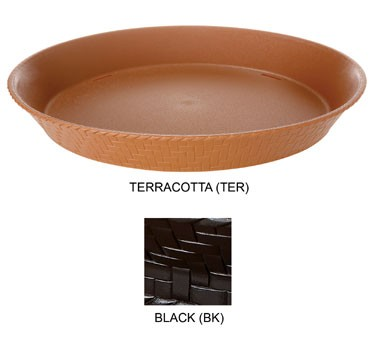 GET Black Textured Polypropylene Round Basket - 11-7/8