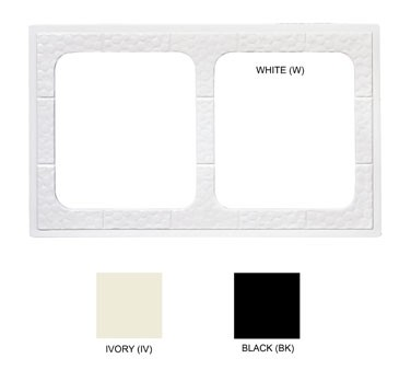 GET Black Tile With 2 Cut-Outs For ML-177 Square Crocks - 21-1/2