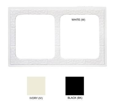 """G.E.T. Enterprises ML-169-BK Black Tile with 2 Cut-Outs for ML-177 Square Crock 21-1/2"""" x 13"""""""