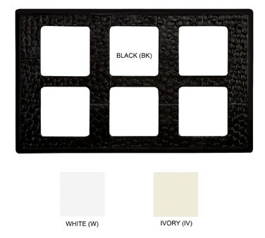 "G.E.T. Enterprises ML-164-BK Black Tile with 6 Cut-Outs for ML-148 Square Crock 21-1/2"" x 13"""