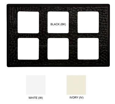 """G.E.T. Enterprises ML-164-BK Black Tile with 6 Cut-Outs for ML-148 Square Crock 21-1/2"""" x 13"""""""
