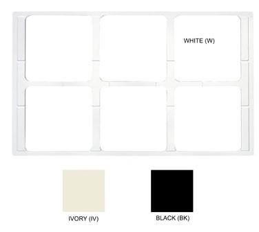 "G.E.T. Enterprises ML-168-BK Black Tile with 6 Cut-Outs for ML-149/ML-150 Crock 21-1/2"" x 13"""