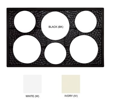 GET Black Tile With 6-Hole Cut Out For Round Crocks - 21-1/2