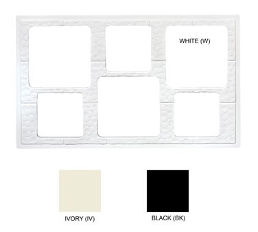 GET Black Tile With 6-Hole Cut Out For Square Crocks - 21-1/2