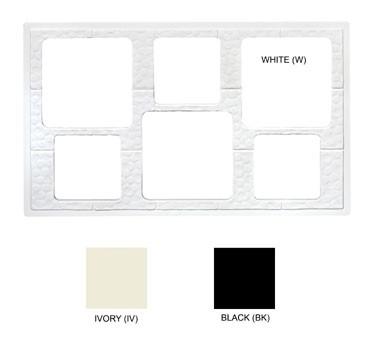 """G.E.T. Enterprises ML-162-BK Black Tile with 6-Hole Cut Out for Square Crock 21-1/2"""" x 13"""""""