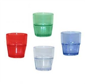 GET Blue Bahama 12 Oz. Stackable Double Rocks Tumbler