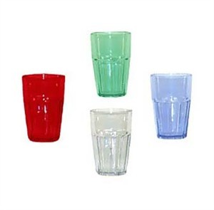 G.E.T. Enterprises 9914-1-bl Blue Bahama SAN Plastic 12 oz. Double Rocks Tumbler