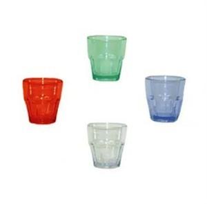 G.E.T. Enterprises 9955-1-BL Blue Bahama SAN Plastic 5.5 oz. Rocks Tumbler