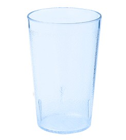 G.E.T. Enterprises 6695-1-6-BL Blue 9.5 oz. SAN Plastic Textured Tumbler