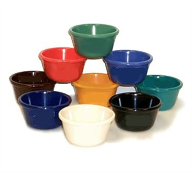 GET Bone White Melamine 4 Oz. Cone-Shaped Ramekin - 3-1/4