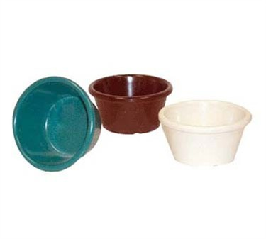 GET Bone White Melamine 6 Oz. Cone-Shaped Ramekin - 3-3/4