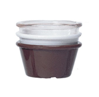 GET Brown SAN Plastic 2.5 Oz. Smooth Ramekin - 3