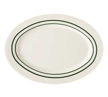 "G.E.T. Enterprises M-4010-EM Emerald Melamine Oval Platter, 16-1/4"" x 12"""