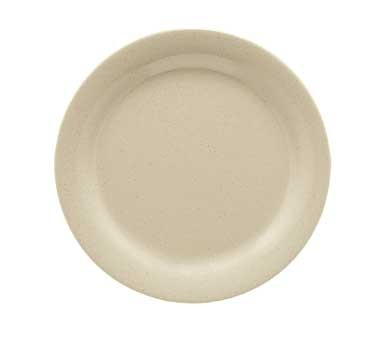 "G.E.T. Enterprises BF-010-S Tahoe Sandstone Round Melamine Plate 10"""