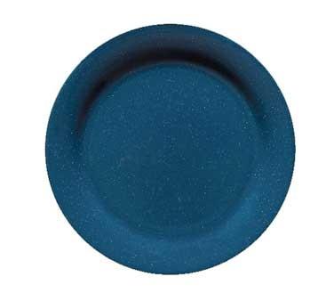 "G.E.T. Enterprises BF-010-TB Texas Blue Round Melamine Plate 10"""