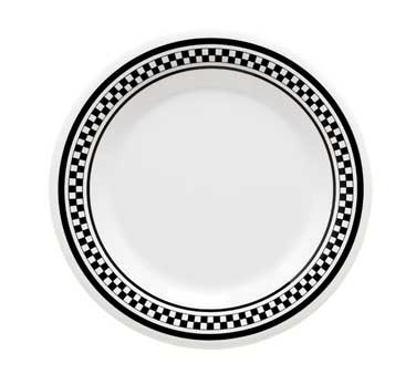 GET Chexers Melamine Wide Rim Plate - 6-1/2