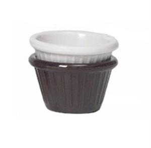 GET Chocolate 2 Oz. Melamine Fluted Ramekin - 2-3/4