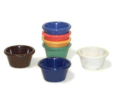 G.E.T. Enterprises S-620-BR Brown Melamine 2 oz. Smooth Ramekin