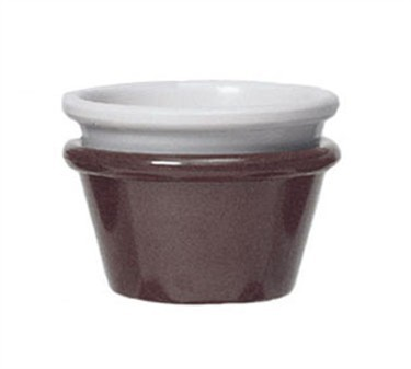 GET Chocolate Melamine 3 Oz. Cone-Shaped Ramekin - 4