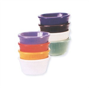 G.E.T. Enterprises RM-389-BR Brown Melamine 3 oz. Fluted Ramekin