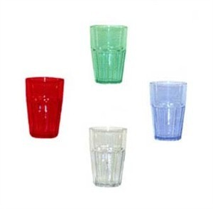 G.E.T. Enterprises 9910-1-CL Clear Bahama SAN Plastic 10 oz. Double Rocks Tumbler
